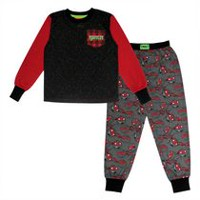 TMNT Boys' Long Sleeve Pajamas 2 Piece Set S