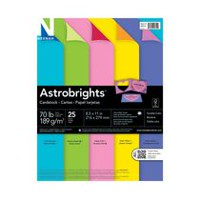 Astrobrights Double-Colour Cardstock, 25 Sheets