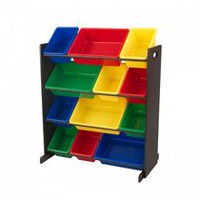 Kidkraft Espresso Sort It and Store It Bin Unit