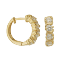 Sterling Silver Gold Plated Huggie hoop Earring