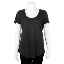 George Women's Scoop Neck Tee Black L/G