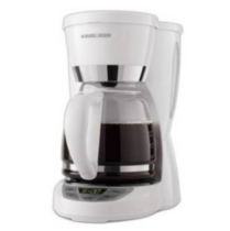 Black & Decker 12-Cup Programmable Coffeemaker- CM1050WD White