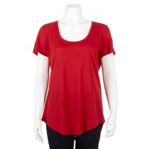 George Women's Scoop Neck Tee Red XL/TG