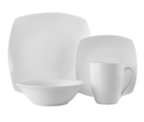 hometrends Soft Square 16 Piece Dinner Set
