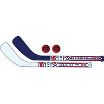 Franklin Sports NHL Montreal Canadiens Mini Hockey Player Stick Set - 2 stick and 2 ball set