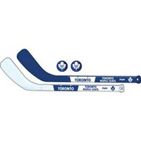 Franklin Sports NHL Toronto Maple Leafs Mini Hockey Player Stick Set - 2 stick and 2 ball set