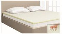 Mainstays 1.5-Inch Fusion Memory Foam Mattress Topper Double