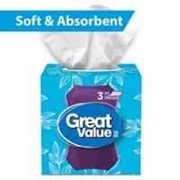 Great Value 3 Ply Soft & Absorbent Facial Tissue Papers