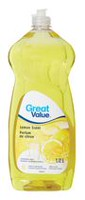 Great Value Lemon Scent Dishwashing Liquid