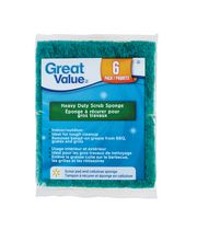 Great Value Heavy Duty Scrub Sponge 6 pack