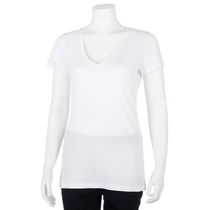 George Women's V-Neck T-Shirt White L/G