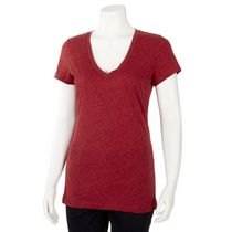 George Women's Fitted V-Neck T-shirt Red XL/TG