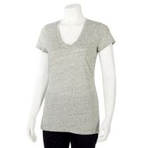George Women's Fitted V-Neck T-shirt Grey XXL