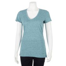 George Women's Fitted V-Neck T-shirt Turquoise S/P