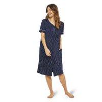 George Women s Short Sleeve Zip Robe c676ba1a2302