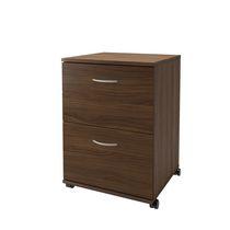 Nexera Essentials 2-Drawer Mobile Filing Cabinet, Walnut