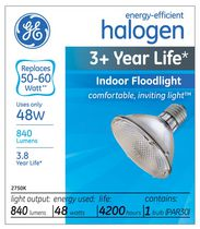 GE Energy-Efficient Halogen 48W PAR30 1PK