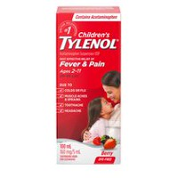 TYLENOL®Children's Acetaminophen Suspension Liquid - Dye-Free Soothing Berry, 100 ml