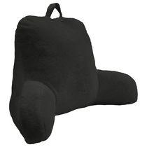 """Rabbit Faux Fur Bedrest Cushion 20"""" x 22"""" in Black"""