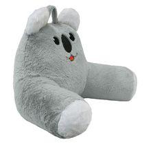 """Koala  Faux Fur Bedrest Cushion 20""""x 22"""" in Grey"""