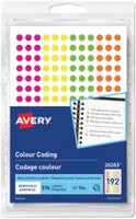 Avery® Removable Assorted Fluorescent Colour Coding Dots Labels