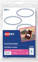 Avery® Removable White Dissolvable Oval Labels