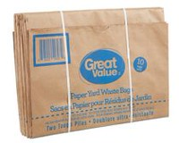 Great Value Paper Yard Waste Bags