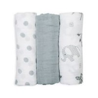 Lulujo - Mini Muslin Cotton Receiving Cloths - Afrique