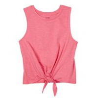 George Girls' Front Knot Tank Pink L