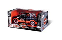 Maisto-1:24 Pick Up Truck with 1:24 Motorcycle -H-D '36 EL Knucklehead + 1:24 '99 Ford F-350 SD