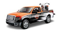 Maisto-1:24 Pick Up Truck with 1:24 Motorcycle - H-D '58 FLH Duo Glide + 1:24 Ford F-150 STX