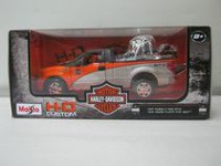 Maisto-1:24 Pick Up Truck with 1:24 Motorcycle -H-D 2000 Fat Boy® + Ford F-150 STX