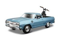 Maisto 1:24 Chevy El Camino Pick Up Truck with Harley Davidson Motorcycle