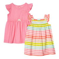 George baby Girls' Sundresses; 2-Pack 3-6 months