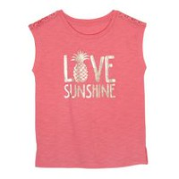 George Girls' Sleeveless Graphic Tee XS