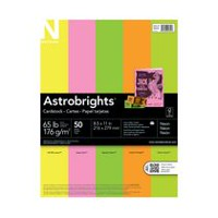 Astrobrights Neon Cardstock, 50 Sheets