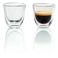 De'Longhi 2 Espresso Double Wall Thermal Glasses