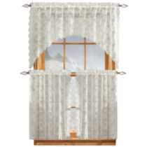Chantilly Lace 3 piece Valance and Tier Set
