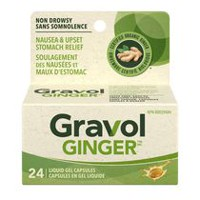 Gravol™ Natural Source Ginger Antinauseant Liquid Gel Capsules