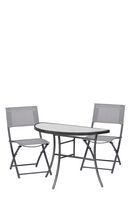 Sunmate Casual 3pc Bistro Set Contemporary Style Outdoor Dining Furniture