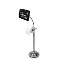 CTA Digital Universal Pedestal Stand with Roll Holder for Tablets