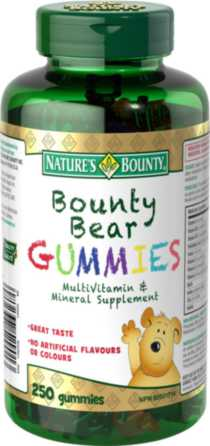 Nature's Bounty Children's Gummies Bounty Bears 250 Gummies