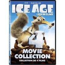 Ice Age: 4 Movie Collection - Ice Age / The Meltdown / Dawn Of The Dinosaurs / Continental Drift (DVD + Digital HD) (Bilingual)