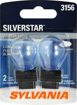Sylvania SILVERSTAR 3156 Automotive Miniature Bulb, 2 Pack