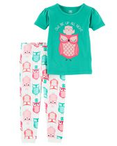 Child of Mine made by Carter's Toddler Girls' 2-Piece Pyjama Set - Owl 5T