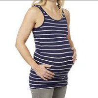 George Maternity Jersey Tunic Tank Navy Striped M