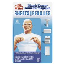 Mr. Clean Magic Eraser Cleaning Sheets, the power of a Magic Eraser in a thin, flexible, disposable Cleaning Sheet