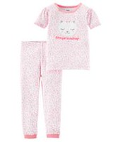 Child of Mine made by Carter's Toddler Girls' 2-Piece Pyjama Set - Kitty 3T