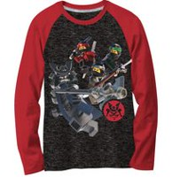 LEGO Boys' Ninjago vs Garmadon Long Sleeve T-Shirt XS
