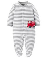 Child of Mine made by Carter's Newborn Boys' Sleep N Play Firetruck Outfit 3-6 months